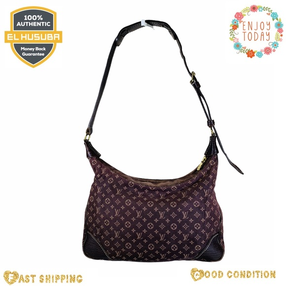 Louis Vuitton shoulder bag boulogne canvas brown